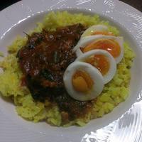 鶏ひき肉とほうれん草のキーマカレー(レシピ)