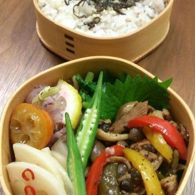 2016/9/27豚肉ときのこのバルサミコ酢炒め弁当