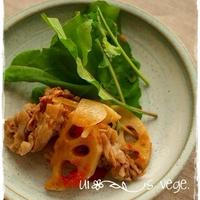 蓮根入り生姜焼きバルサミコ風味。