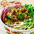 缶詰の秋刀魚蒲焼で作る♪さんまときゅうり漬物の混ぜ寿司♡