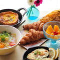 おうちランチ、アボカドのオーブン焼き、野菜スープ、