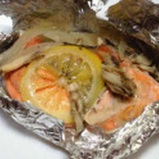 きれいになるLOVEレシピ♪~さっぱりレモンで 鮭のホイル焼き~