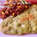 発酵なし♪フライパンでほうれん草ナン&シメジとうもろこしキーマカレー 自家製カレールー by MOMONAOさん