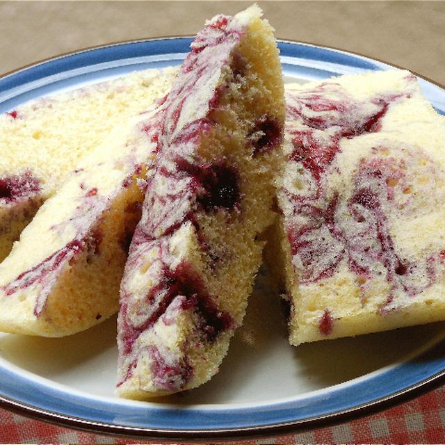ワイルドブルーベリージャムのふんわり蒸しパン。