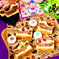 スライスチョコとベリー de ゼブラ柄のベイクドチーズケーキ♡