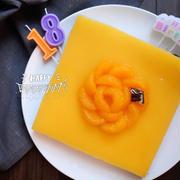 長男18歳の誕生日ケーキ【オレンジチョコチーズケーキ】