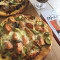 だしとスパイスの魔法ピザ!~其の2:鮭のクリームチャウダーピザ♪~