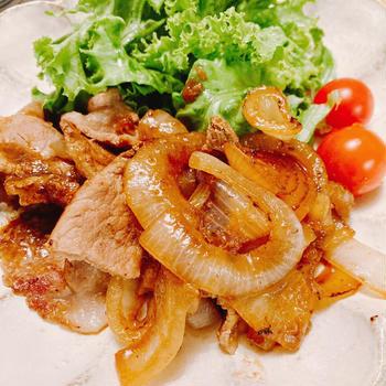 豚肉の生姜焼き♫