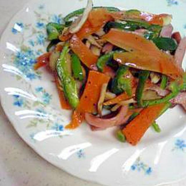 ウインナーと野菜炒め