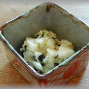 たたき山芋わさび茶漬け和え~お茶漬け海苔は便利