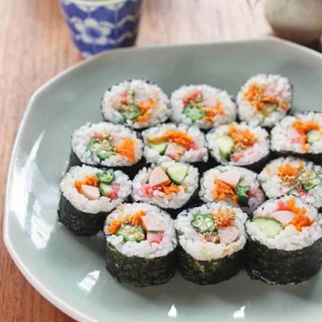 魚肉ソーセージとしりしりでキンパ