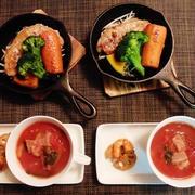 焼き野菜なら食べるでしょう☆ポークステーキドレッシングソース♪☆♪☆♪
