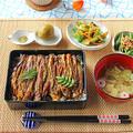 まるで鰻重!?なすと鶏胸肉のかば焼き重☆ by ぱおさん