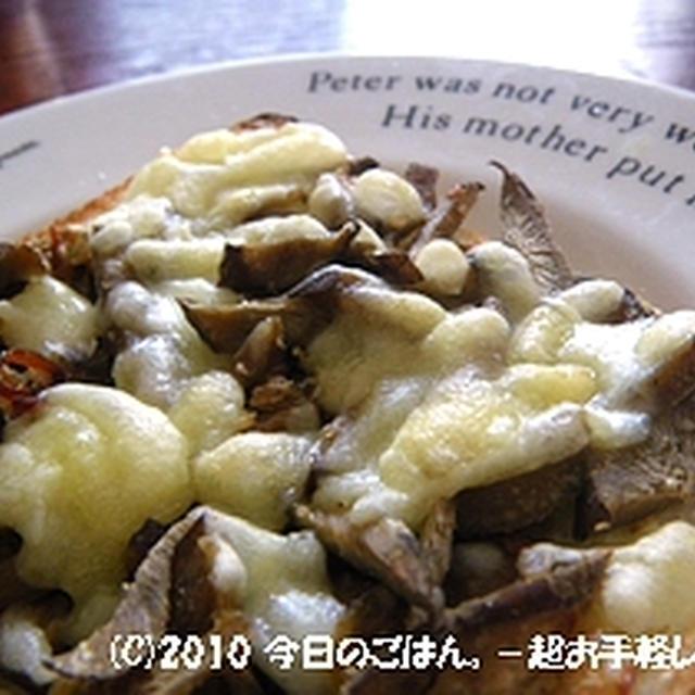 きんぴらごぼうチーズトースト 意外にありです(^_-)-☆