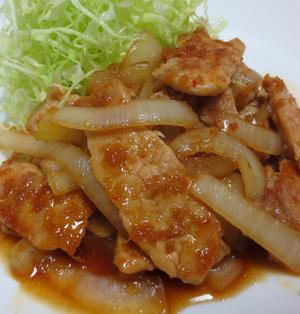 豚肉の生姜焼き♪ピリ辛オイスターソース