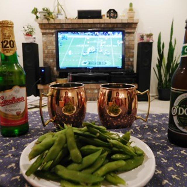 ノンアルコールビールでゲーム観戦 ~ベトナム風サンドイッチ