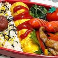 【お弁当】お弁当作り/フライパン1つで完結/彩り青椒肉絲