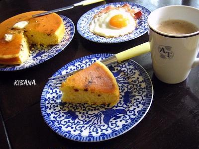 ラムレーズン ホットケーキ