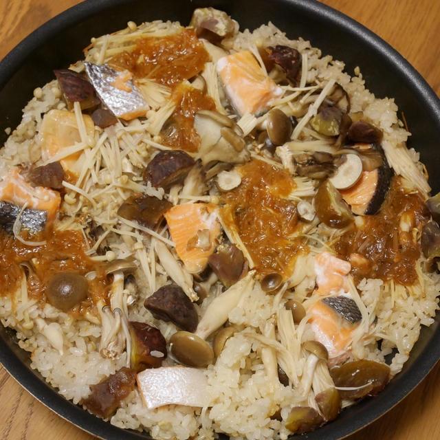 フライパンで簡単!秋鮭ときのこのパエリアが美味しすぎ!【北斗晶さんのぶっ飛ばしレシピ】