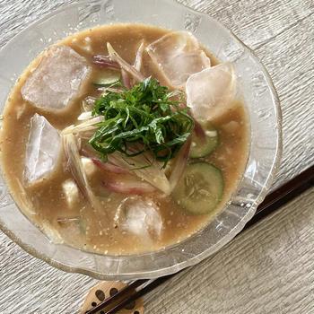 10分で簡単に作れるひんやり冷や汁素麺