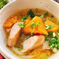 南瓜とソーセージの味噌スープ【洋風味噌汁】(動画レシピ)/Pumpkin and Sausage Miso soup.
