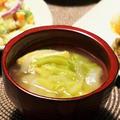 春キャベツと新玉ねぎの白味噌汁