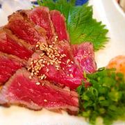 さっぱりで肉を食う!!ガッツリ!牛肉のタタキ