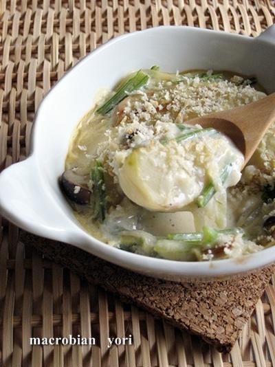 【マクロビ簡単レシピ】蕪の豆乳グラタン