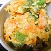 米粉でカラッと、かき揚げ丼