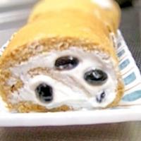 ふじっ子の丹波黒黒豆さんのロールケーキ