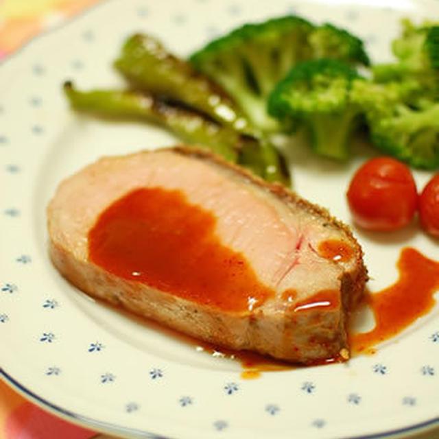 豚肉のピリ辛ごま風味