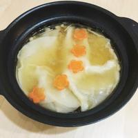 創味シャンタンとポン酢でやみつきワンタン風スープ鍋