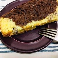 ケーキのようなホットケーキミックスで焼きっぱなしマーブルケーキ
