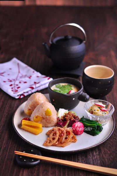 「銀杏茶飯と茶碗蒸しのワンプレート」
