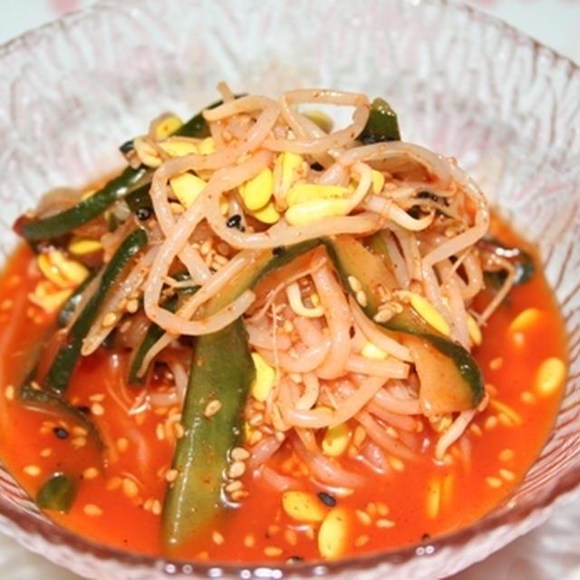 辛酸っぱいコンナムル(콩나물초나물)ーー 夏にぴったり酢コチュジャン味の豆もやしナムル