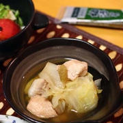 「白菜と鶏肉のさっぱり煮*柚子こしょう味」子供との作りわけOK!
