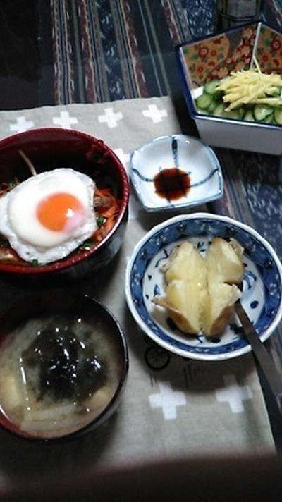 ●ビビンバ丼&チビのお弁当