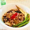 豆腐と秋刀魚のトマトソース