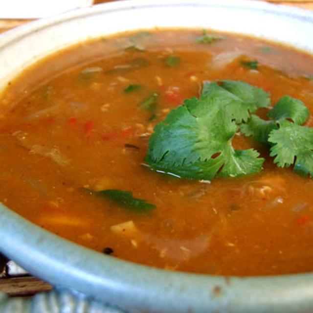レンズ豆でチキンカレー(Lentil Soup)