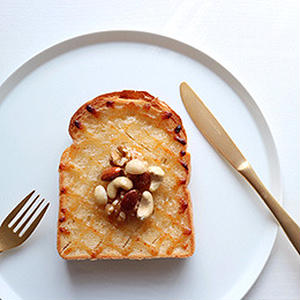 朝食の新定番!ハニーマヨトースト☆