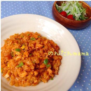 【簡単美味♪】冷やご飯deメキシカン☆カレーピラフ♪