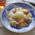【料理リレー】玉ねぎの炊飯器ピラフ