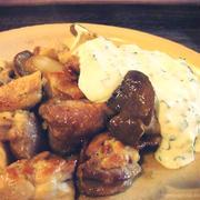 鶏肉とエリンギの柚子こしょう焼き・ねぎマヨソース