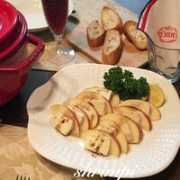簡単おつまみ♪カマンベールチーズとりんごのバルサミコソース