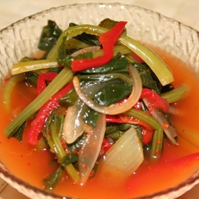 夏に飲む!食べる!小松菜水キムチ