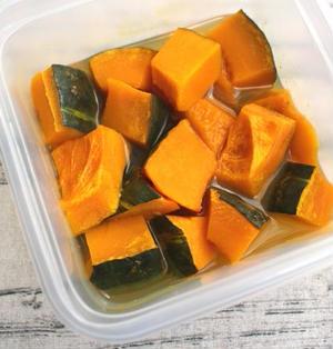 レンジで簡単さっぱり美味しい。かぼちゃのレモン煮