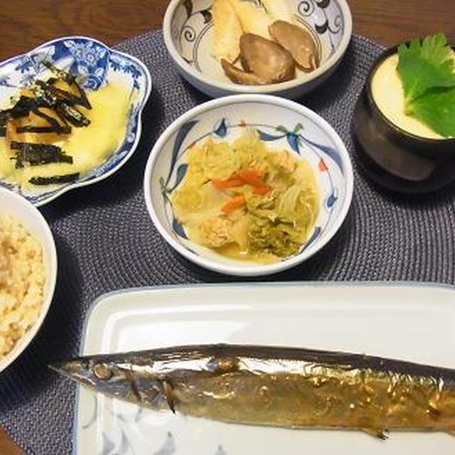 お出かけの日は作り慣れたメニューで夕食(^^v