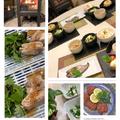 日本酒持参のゲストさんにはおもてなしは和食で・・鯵のつみれ揚げなど