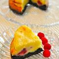 ラズベリーのホワイトチョコチーズケーキ