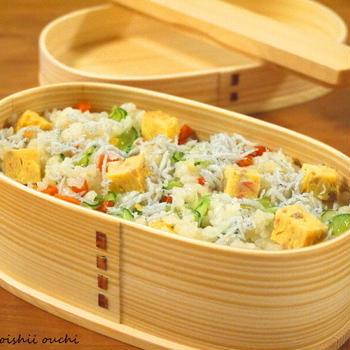 【今日のわっぱ弁当】簡単まぜ寿司
